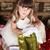 opening · christmas · geschenken · mooie · vrouw · genieten - stockfoto © vanessavr