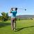 shot · jonge · mannelijke · golfer · bestuurder · golf - stockfoto © vanessavr