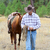cowboy · fiatal · vezető · ló · mező · férfi - stock fotó © vanessavr
