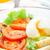 luz · desayuno · suave · huevo · tomate · blanco - foto stock © vankad