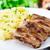 焼き · リブ · ジャガイモ · プレート · 食品 · ディナー - ストックフォト © vankad