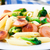 tészta · kolbász · brokkoli · fotó · finom · fa · asztal - stock fotó © vankad