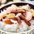 zeevruchten · rijst · heerlijk · kom · tabel · witte - stockfoto © vankad