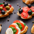 bruschetta · tomates · manjericão · tomates · cereja - foto stock © vankad