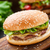 tavuk · Burger · yalıtılmış · susam · gıda - stok fotoğraf © vankad