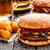 caneca · cerveja · burger · isolado · vidro · pão - foto stock © vankad