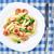 pasta · kip · worst · broccoli · plaat · witte - stockfoto © vankad