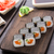 sushi rolls with salmon and cucumber stock photo © vankad