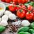 ensalada · caprese · ingredientes · mozzarella · queso · frescos · albahaca - foto stock © vankad
