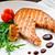 grelhado · salmão · limão · cozinha · francesa · prato · tomates - foto stock © vankad