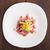 Chopped ham on white plate stock photo © vankad