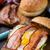 uovo · pancetta · formaggio · burger · fatto · in · casa · vecchio - foto d'archivio © vankad
