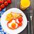 huevo · frito · dulce · rojo · tomate · maíz - foto stock © vankad