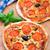 vegetariano · mini · pizza · tomates · cherry · aceitunas - foto stock © vankad