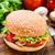 баклажан · Burger · свежие · зрелый · вегетарианский · белый - Сток-фото © vankad