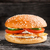 burger with salmon patty and vegetables stock photo © vankad