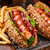 バーベキュー · 焼き · ホットドッグ · フライドポテト · ディナー · 赤 - ストックフォト © vankad