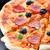 ペパロニ · ピザ · オリーブ · 黒 · 表 - ストックフォト © vankad