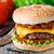 spek · hamburger · rundvlees · gegrild · kaas · vers - stockfoto © vankad
