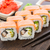 sushi roll with salmon and eel stock photo © vankad