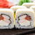 sushi rolls with shrimps and cheddar cheese stock photo © vankad