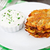 krumpli · palacsinták · tejföl · finom · fehér · tányér - stock fotó © vankad
