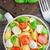 pasta · albahaca · mozzarella · tomates · cherry · tagliatelle · alimentos - foto stock © vankad