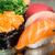 close up of salmon nirigi and gunkan stock photo © vankad