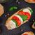bruschetta · domates · mozzarella · fesleğen · kiraz · domates - stok fotoğraf © vankad