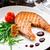 grilled salmon steak stock photo © vankad