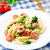 macarrão · salsicha · brócolis · foto · delicioso · mesa · de · madeira - foto stock © vankad