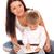 szczęśliwy · matka · dziecko · biały · twarz · farbują - zdjęcia stock © vankad