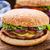 grande · burger · queijo · cola · branco · vidro - foto stock © vankad