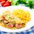 jamón · tomate · verde · ensalada · beber · vida - foto stock © vankad