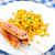 tyúk · kukorica · nyárs · grillcsirke · csemegekukorica · hús - stock fotó © vankad