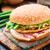 Burger · salata · beyaz · yemek - stok fotoğraf © vankad