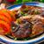 sült · disznóhús · kotlett · sültkrumpli · zöld · saláta - stock fotó © vankad