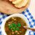 taze · vejetaryen · çorba · beyaz · çanak · mavi - stok fotoğraf © vankad