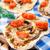 vegetariano · mini · pizza · tomates · cereja · páprica · azeitonas - foto stock © vankad