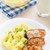 mashed potatoes with fried salmon stock photo © vankad