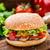 patlıcan · Burger · taze · olgun · vejetaryen · beyaz - stok fotoğraf © vankad