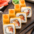 fried sushi roll with salmon teriyaki stock photo © vankad