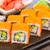 sushi roll with tobico and avocado stock photo © vankad