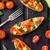 bruschetta with tomato avocado and herbs stock photo © vankad