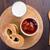 мягкой · крендельки · абрикос · Jam · стекла · молоко - Сток-фото © vankad