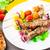 abobrinha · batata · comida · faca · garfo - foto stock © vankad