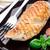 grillcsirke · mellek · tányér · friss · zöldségek · egészség · tyúk - stock fotó © vankad