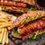 barbecue · grillezett · hot · dog · sültkrumpli · vacsora · piros - stock fotó © vankad