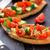 bruschetta · tomates · cerises · fromage · cottage · persil · peu · profond - photo stock © vankad
