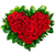 Heart shaped bouquet of red roses stock photo © vankad